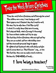 christmas poems about teachers