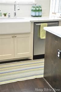Light Green Runner Rug Adding Color In The Kitchen Honey We 39 Re Home