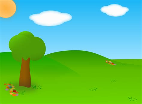 Clipart Cartoon Landscape