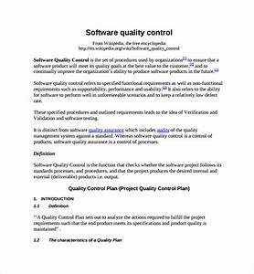 9 quality control plan templates sample templates With quality control policy template