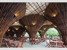 An OpenAir Cafe Built from Thousands of Bamboo Canes