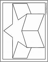 Coloring Pages Star 3d Shapes Shape Geometric Heart Shaped Flower Many Fun Colorwithfuzzy sketch template
