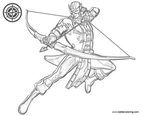 avengers hawkeye coloring pages free printable coloring