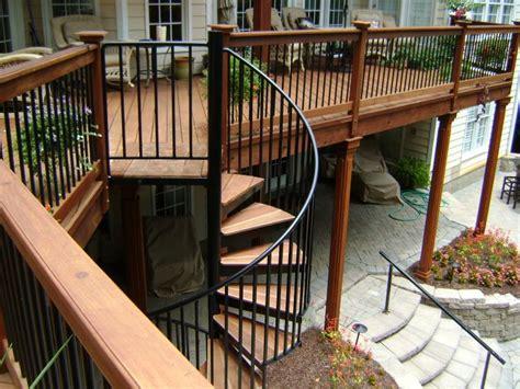 harmonious second floor deck second floor deck outdoor living ideas
