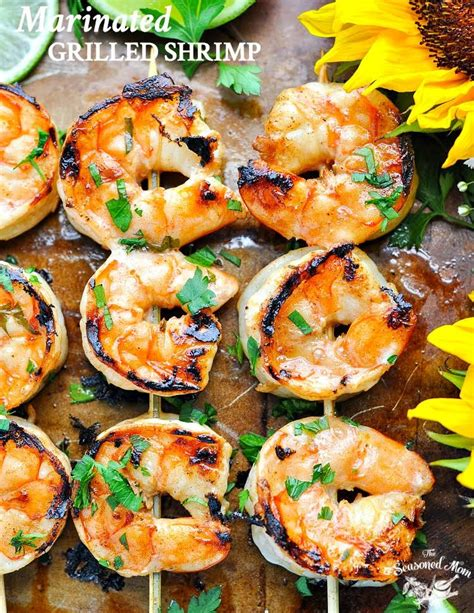 shrimp grilled recipes marinated recipe healthy dinner food grilling easy theseasonedmom seafood marinade bbq meal meat fish foods barbecue feel