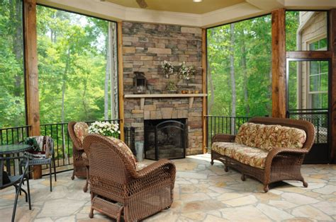 fire place in sun room 55 luxurious covered patio ideas pictures