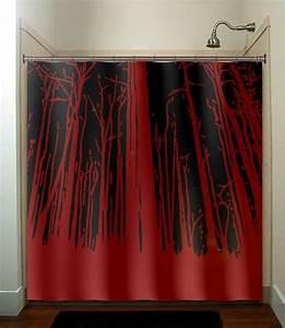 Rideau Rouge Et Noir : un rideau de douche original transforme votre salle de bains ~ Teatrodelosmanantiales.com Idées de Décoration