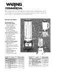 Waring BB900G 1/2 hp 2 Speed Chrome Commercial Bar Blender