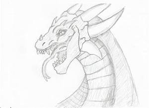 Dragon Drawing by GingerBread3 on DeviantArt