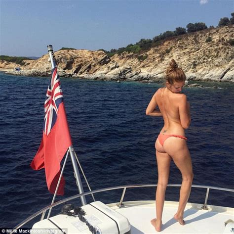 Millie Mackintosh Topless In Racy Instagram Bikini Snap Daily Mail Online