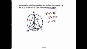 Problem  Isosceles Triangle Inscribed In A Circle