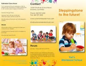 Montessori School Brochures