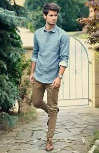 Menu0026#39;s Chambray and Denim Style | Famous Outfits