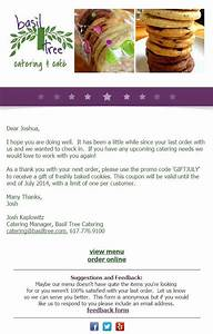 30 email ideas for when youre not sure what to send With catering email template