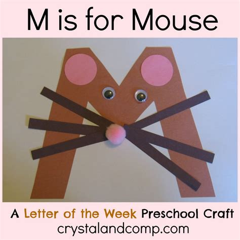 alphabet activities for preschoolers m is for mouse 269 | M is for Mouse crystal and company 1024x1024