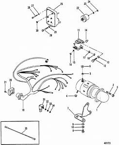 Starter Motor And Wiring Harness For Mercruiser 470 Engine