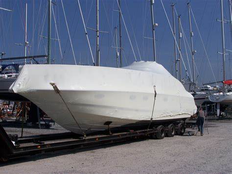 Boat Transport Wrap by Shrink Wrap Boat Transport Cut Outs Tufcoat