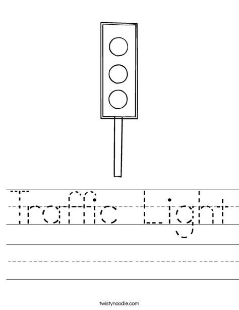 traffic light worksheet twisty noodle