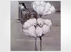 Tableau Fleurs Moderne : tableau moderne fleur blanche ~ Teatrodelosmanantiales.com Idées de Décoration