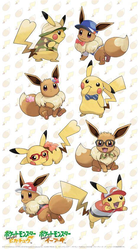 pokemon lets  pikachueevee wallpaper