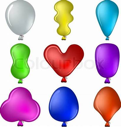 Balloon Shape Clipart Shapes Balloons Different Clipground