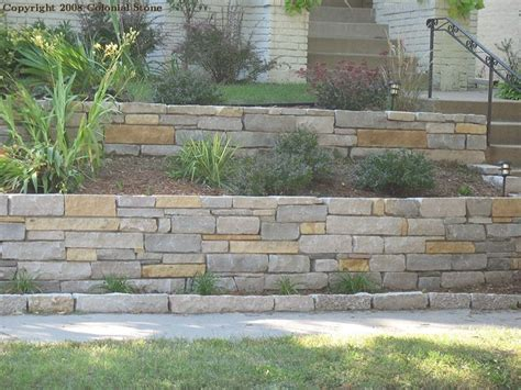 terraced retaining wall terraced stone retaining wall admire the variety in stone size and color hardscape garden