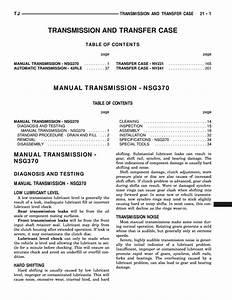 Nsg370 Manual Transmission Service Manual Pdf  1 56 Mb