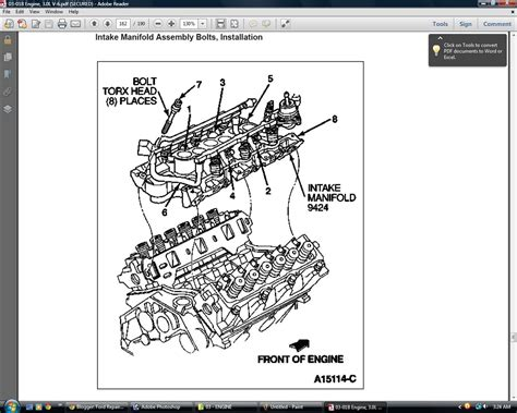 Ford 3 0 Liter Engine Diagram by Ford Repair Station Ford Ranger 1993 94 95 96 97 2 3l 3