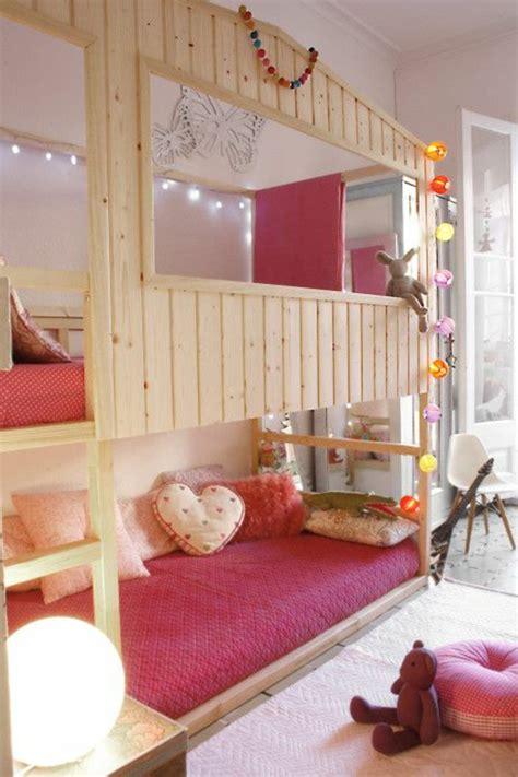 les chambres des filles le lit mezzanine ou le lit supersposé quelle variante