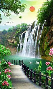 Waterfall Sunrise Wallpapers - Wallpaper Cave