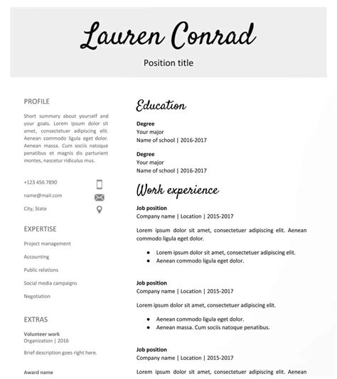 Resume Template Docs by 30 Docs Resume Templates Downloadable Pdfs