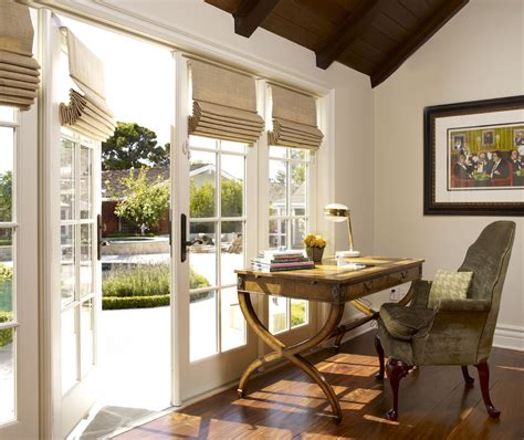 Corner Desk Design Ideas by Window Treatments For French Doors Home Office Traditional