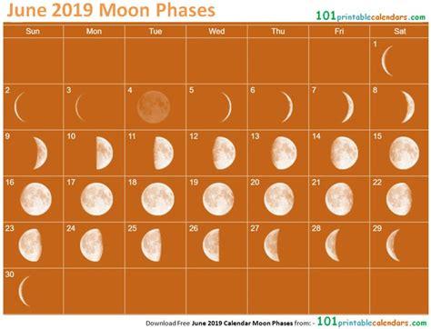june  calendar moon phases june  calendar