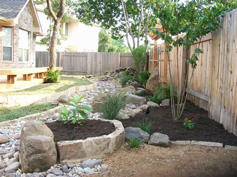 Beautiful Dry Creek Bed With A Corner Sitting Area That