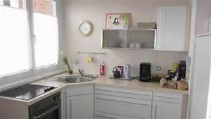 cuisine equipee pour petite surface modern aatl With salle a manger couleur taupe pour petite cuisine Équipée