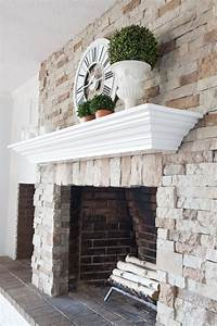 Diy, Fireplace, And, Mantel, Makeover, Click, Over, To, See, How, I, Transformed, My, Brick, Fireplace, To