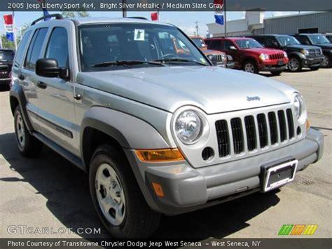 jeep liberty silver inside bright silver metallic 2005 jeep liberty sport 4x4