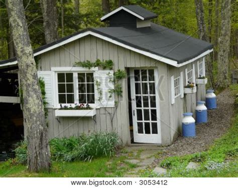 Pretty Sheds by Pretty Garden Shed Image Photo Bigstock