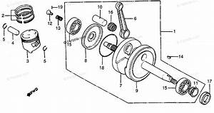 Honda Motorcycle 1979 Oem Parts Diagram For Crankshaft