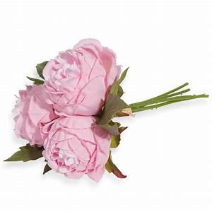 bouquet fleurs artificielles pivoines roses maisons du monde With chambre bébé design avec bouquet de fleur a domicile