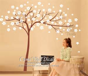 removable wall decals flower wall sticker tree wall mural by cuma
