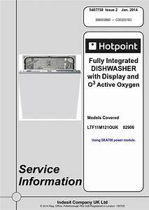 Hotpoint Ltf 11m121 O Uk Dishwasher Service Manual And
