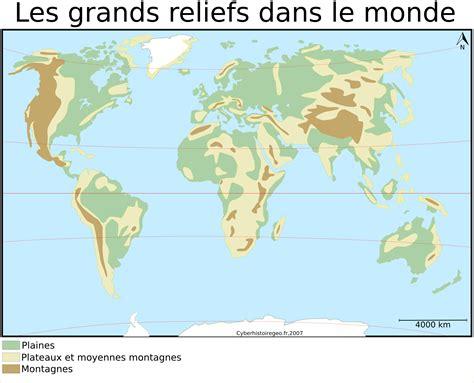 Carte Muette Fleuves Du Monde by Carte Des Montagnes Du Monde Ax76 Jornalagora
