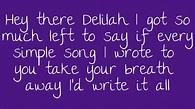 Hey There Delilah Lyrics - YouTube