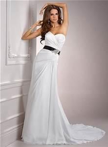 casual simple a line sweetheart chiffon wedding dress with With simple black wedding dresses