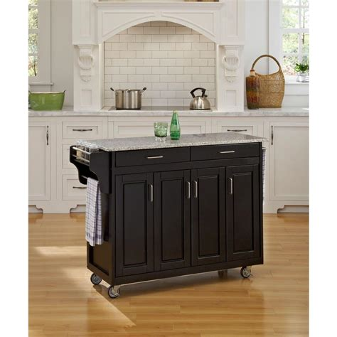 island on wheels for kitchen home styles create a cart white kitchen cart with black 7600