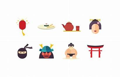 Japan Icon Flat Japanese Vector Pack Clipart
