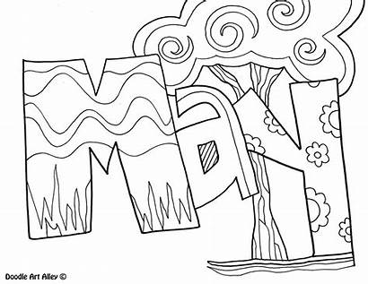 Coloring Months Pages Doodles Classroom