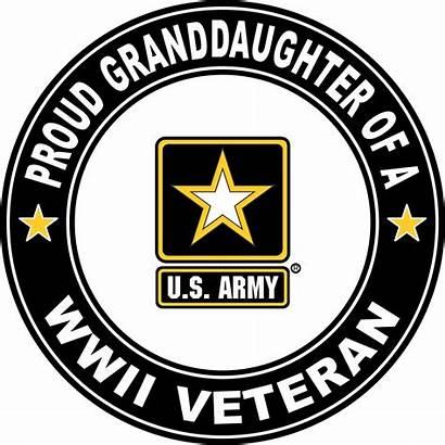 Veteran Army Proud War Ii Decal Grandaughter