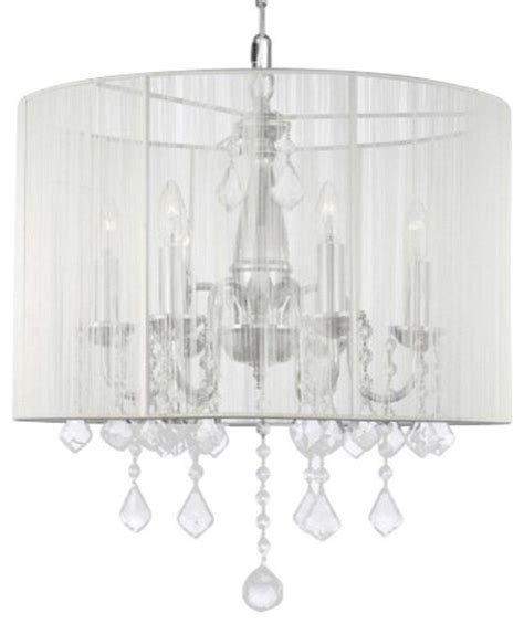 chandelier with shade swag in chandelier
